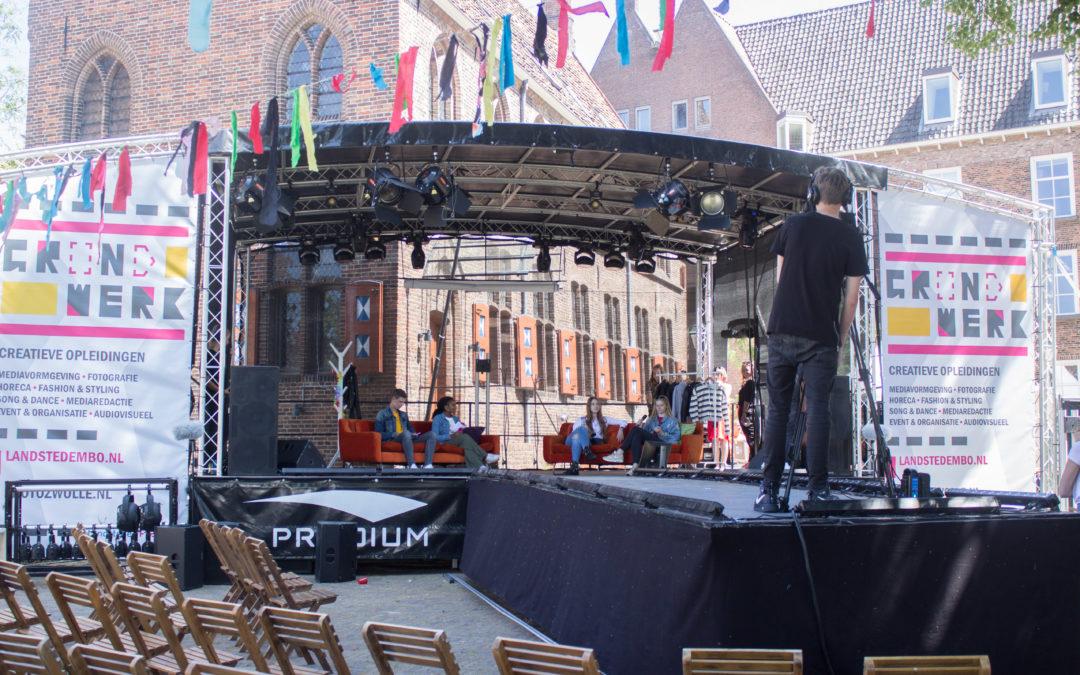 Buitenpodium Zwolle: Grondwerk